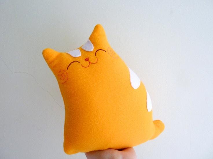 Orange Tabby Cat Kitty Plush Doll Toy