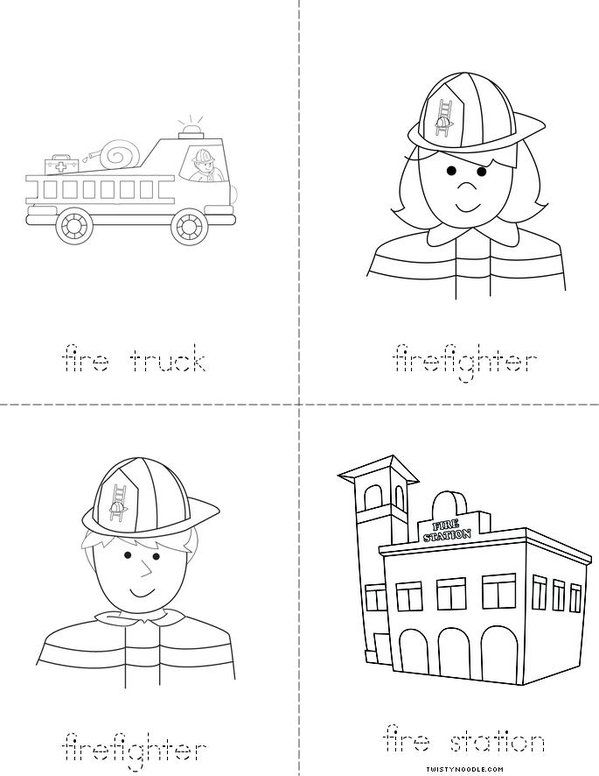 Fire Safety Words Mini Book