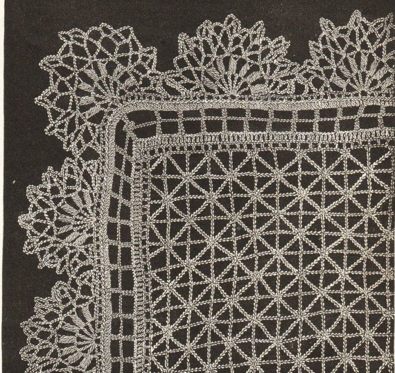 Vintage lace shawl crochet pattern 1890s pdf email delivery