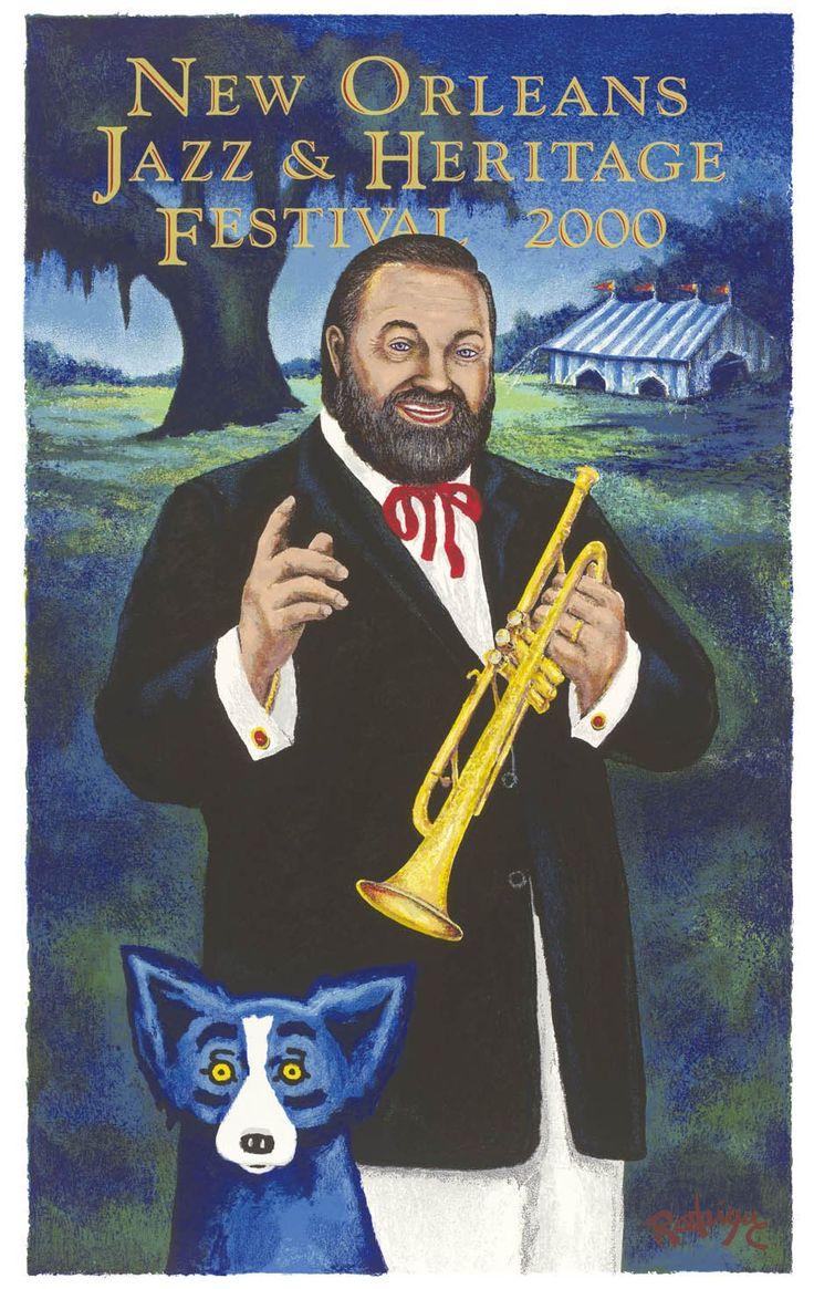 2000 al hirt by rodrigue jazz fest blue dog