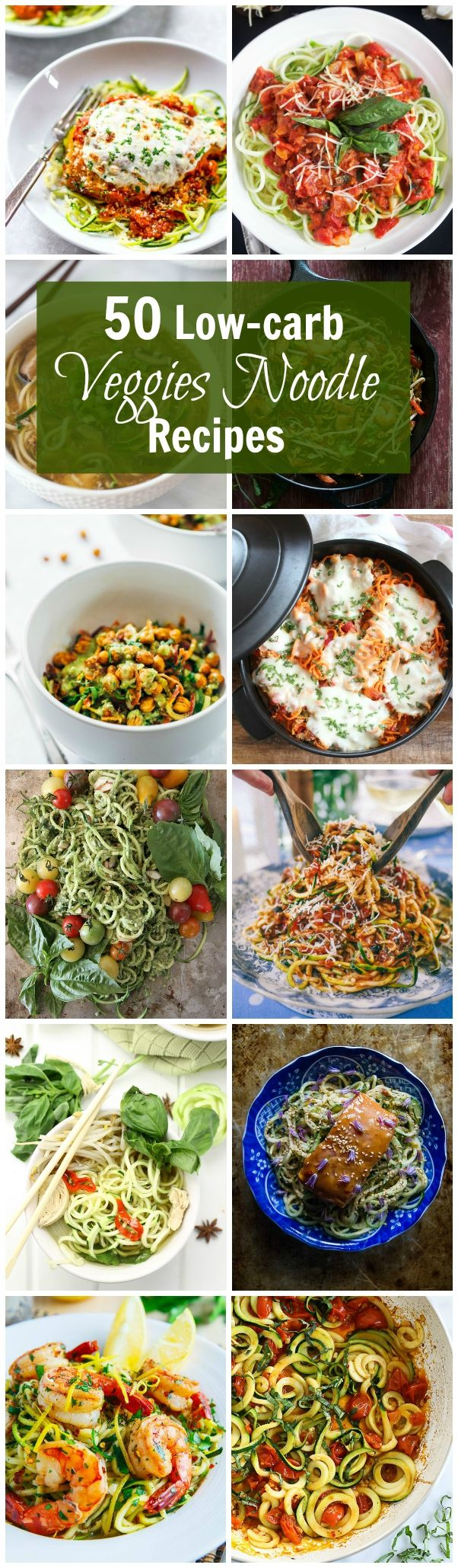 50 Low-Carb Veggies Noodle Recipes - Here are the best and most flavorful veggie noodle recipes around the internet to make your life easier and all in one place