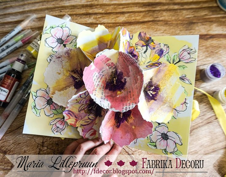 Interactive pop up card by Maria Lillepruun