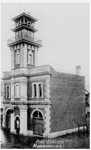 First fire station, Adelaide Street, Maryborough, ca. 1888.