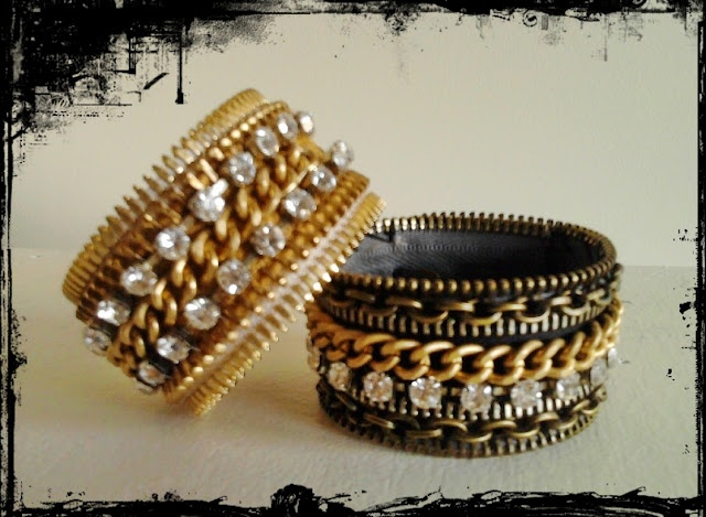 Fermuar Bileklik - Zipper Bracelet - Zipper Band Cuff
