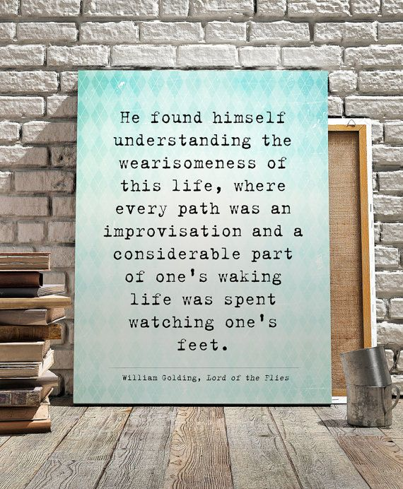 "William Golding quote, Lord of the Flies Quote, Literary Quote print ""He found himself understanding..."" Printable Quotes, Instant download"