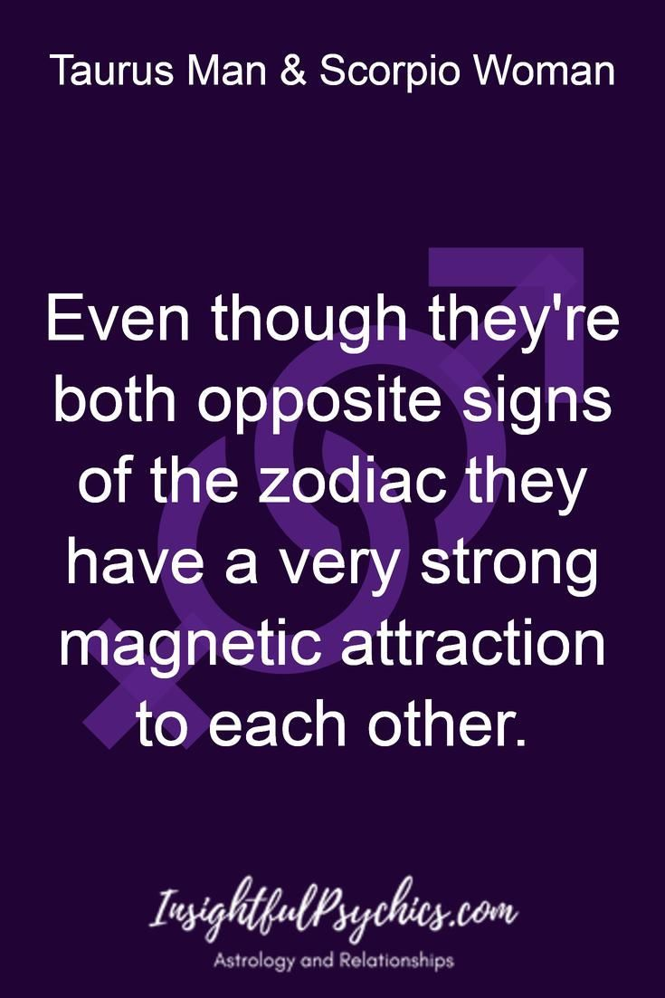 Scorpio male taurus female attraction