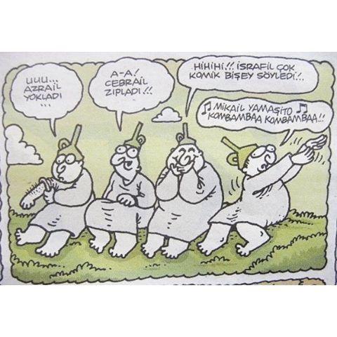Mikail yamaşito kombambaa #yenibok #karikatür #uykusuz #yiğitözgür #deli #deliler #delilik #delilikler #huni #hunililer #azrail #cebrail #israfil #mikail