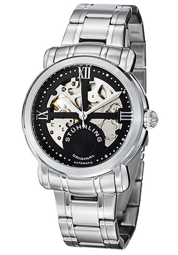 Stuhrling Original 386.33111, The Stuhrling Argent is a classy and elegant watch. With a two-tone stainless steel bracelet and unique dial design, this men's watch makes an impressive statement of time-telling.
