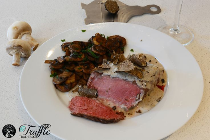 Beef Eye Fillet With Black Truffle Cream - Truffle Traders
