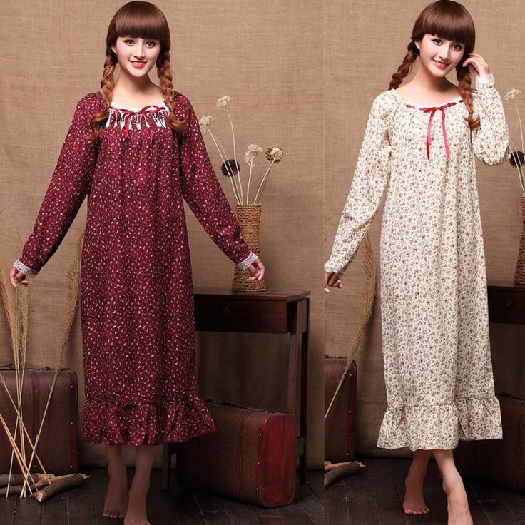 Find More Nightgowns & Sleepshirts Information about Hot Selling 100% Cotton Women Sexy Sleepwear Princess Nightgown Printing Flower Flouncing Female Loose Night Dress B4044,High Quality dress shoes for men,China dresses middle aged women Suppliers, Cheap dress character from Shang Hai July's store on Aliexpress.com