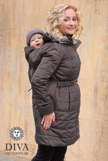 Diva 4 in 1 Babywearing Winter Coat with a front and back carry option is perfect for cold climates like in Canada. Enjoy free shipping worldwide!