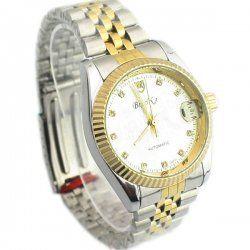 Blanc + or avec calendrier automatique montre mécanique