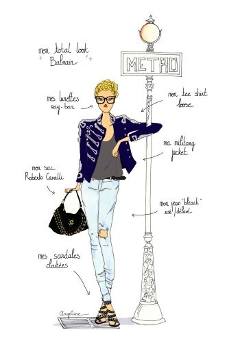 Do it in Paris - Balmain by Angeline Melin #fashion #illustration #Paris