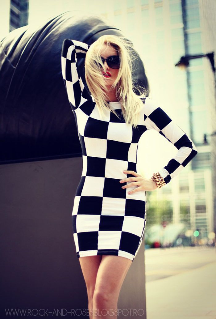 Checkmate!  #Sunglasses #Graphic #Dresses with Silvia Postolatiev