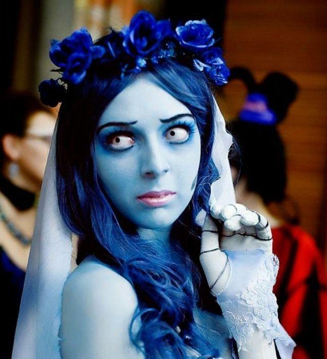 maquillage pour Halloween femme: la mariée cadavérique