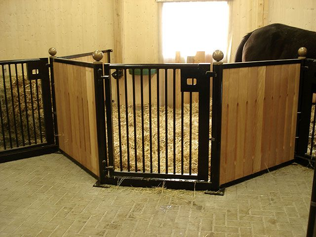 Indoor stable stalls.
