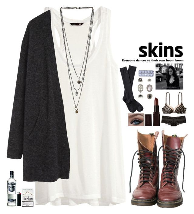 """Effy Stonem #5"" by fran-peeters ❤ liked on Polyvore featuring H&M, Dr. Martens, Miss Selfridge, Acne Studios, Laura Mercier, Victoria's Secret, Xhilaration, Topshop and Effy Jewelry"