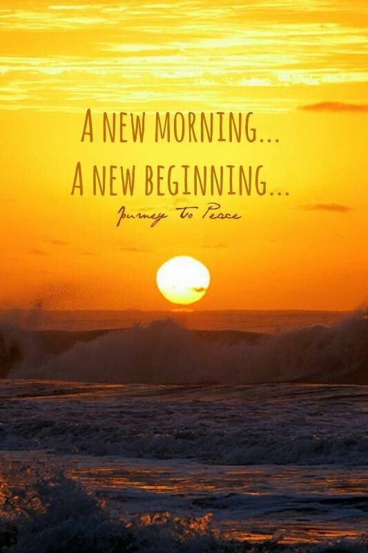 A New Morning A New Beginning Beautiful Minds Pinterest Beautiful Mind Words Quotes And