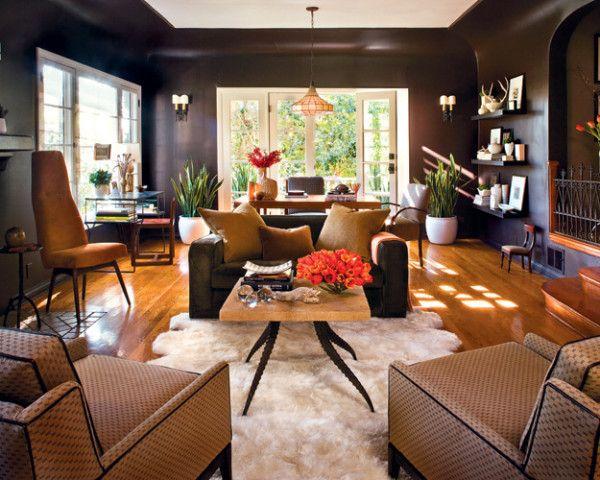 great dark brown semi gloss paint color