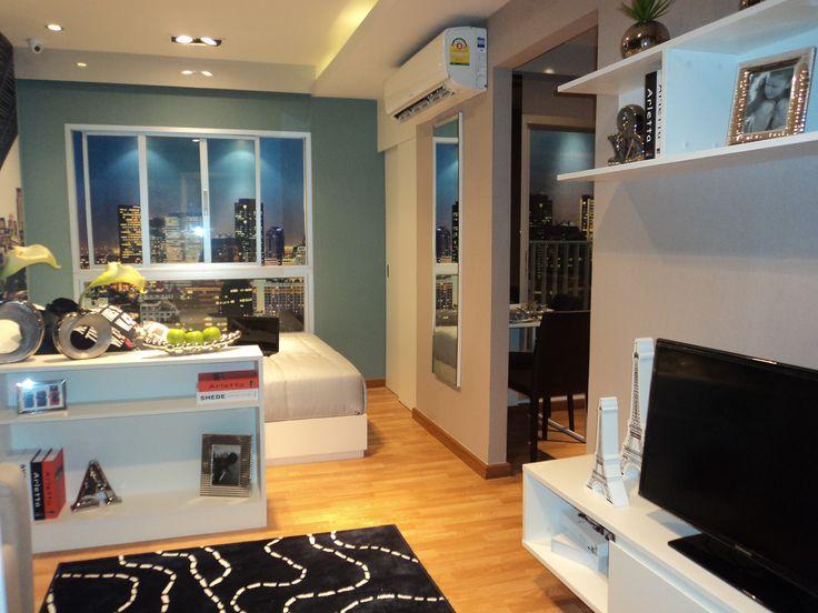Studio type 23.6 sq.m. | The Trust Condo Ngamwongwan ...