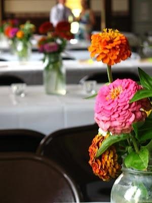 Flowers in mason jar, rustic beauty!