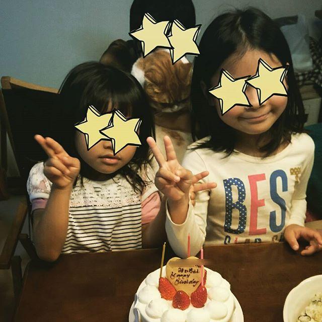 今日は子供たちのお誕生会🎂 長女7歳、次女5歳になりました✨ そしてみーちゃんも今月2歳のお誕生日。。。 子供たちはみんな三月生まれの我が家です😁  ケーキのプレートにはちゃんとみーちゃんのお名前も書いてもらいました🎵  何とか三人で写真撮影 笑 みーちゃん嫌がってこれが精一杯💦  お誕生日おめでとう👏🎉 みんな健やかに大きくなれ❤  #スコティッシュフォールド#scottishfold#ねこ#猫#愛猫#cat#catstagram#にゃんすたぐらむ#ねこ部#スコ#垂れ耳スコ #スコティッシュフォールド垂れ耳#猫#ねこのいる生活#可愛い#親バカ#お誕生会#長女7歳#次女5歳#三女2歳#三姉妹#猫含む#おめでとう