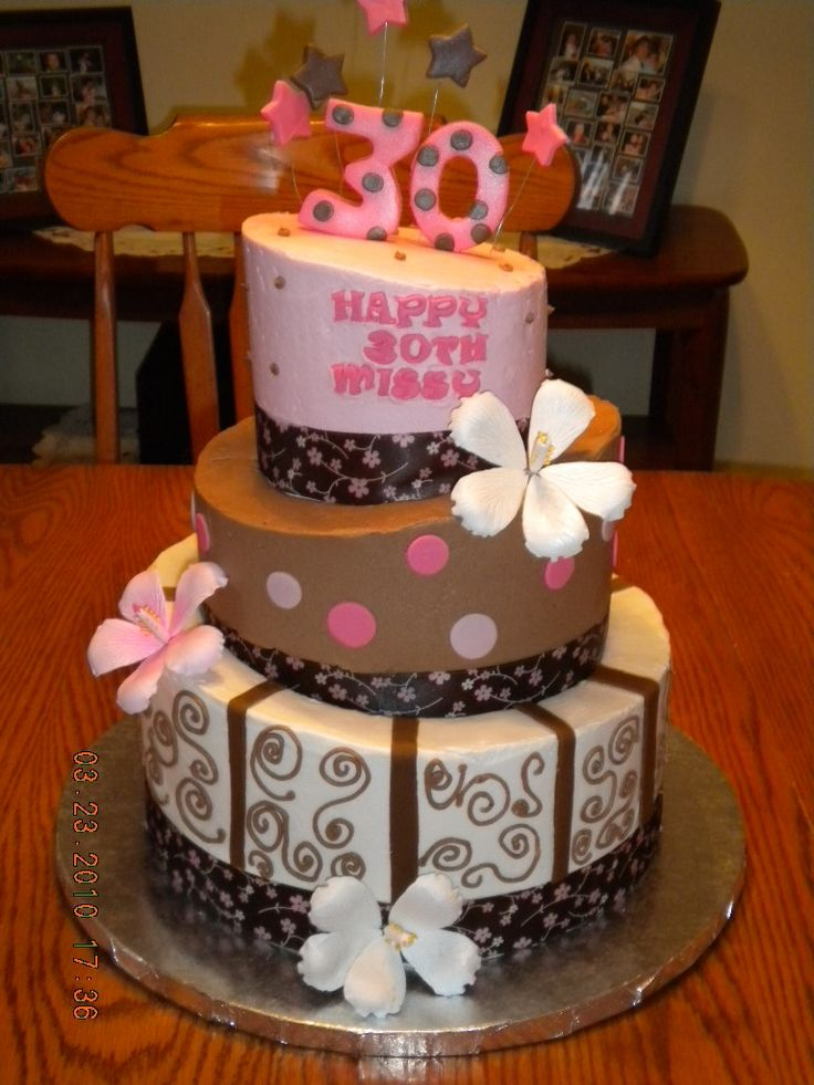 19 best birthday cakes images on pinterest cakes for 30th birthday cake decoration