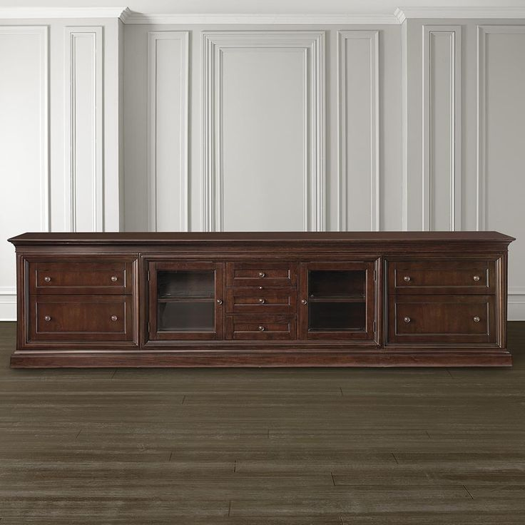 Eos Extended Credenza Dark Brown Finish