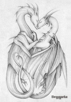 Dragons in Love from theOtaku.com #dragon #tattoos #tattoo