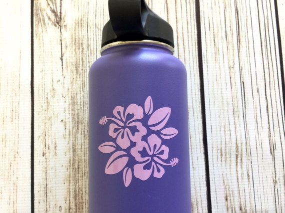 Hibiscus Flower Vinyl Decal For Hydroflask Yeti