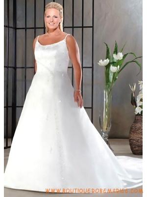 Robe de mariée grande taille avec deux bretelles  Robe de mariée ...