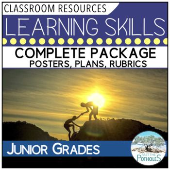 Complete Learning Skills Package - everything you need to teach, discuss and assess. #learning #skills #materials #resources #assessment #accountability #communication #parents #conferences #teaching #junior