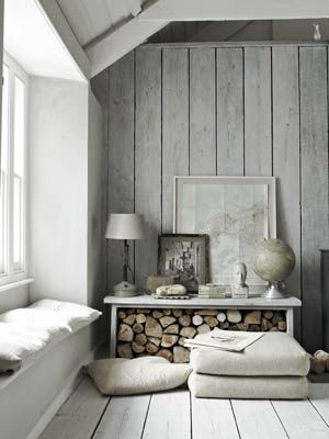 Decorate with wood.