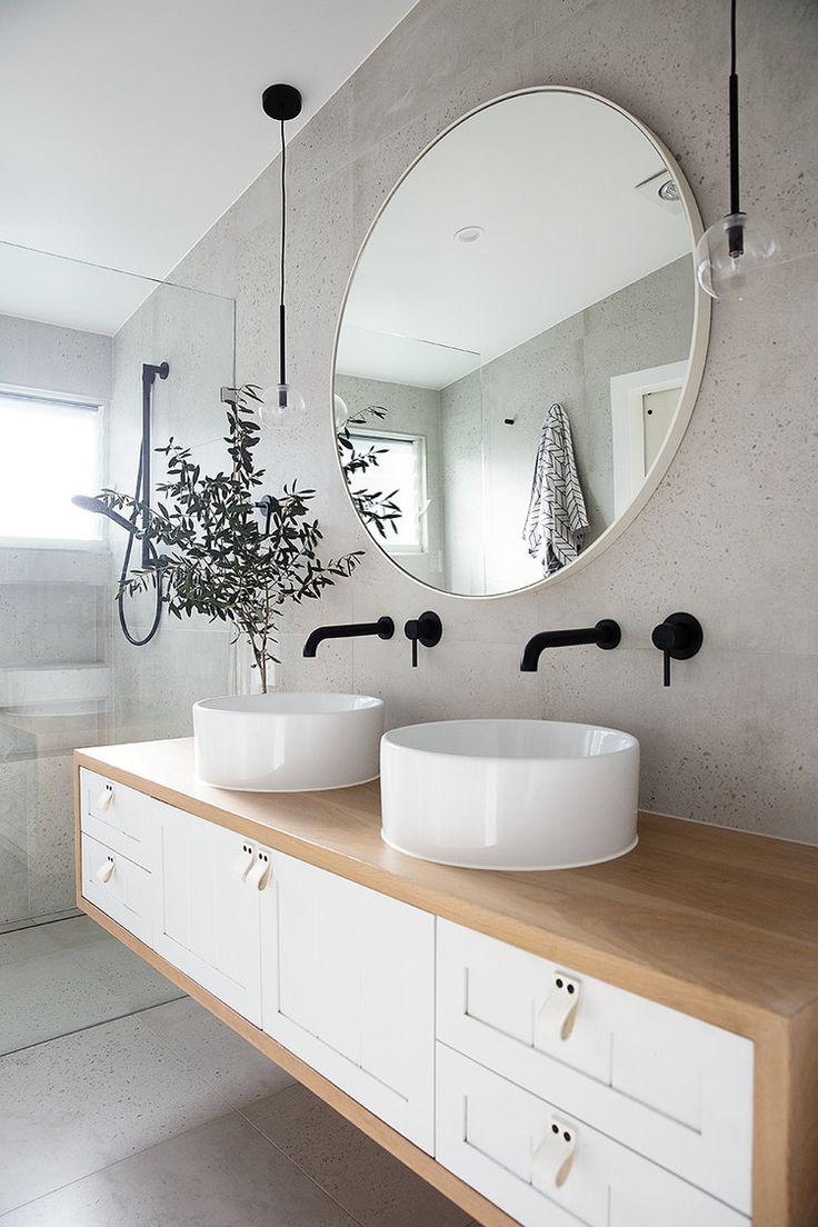 Bad-Trend: Eitelkeiten aus Holz - Adore Home Magazine  #Badezimmer