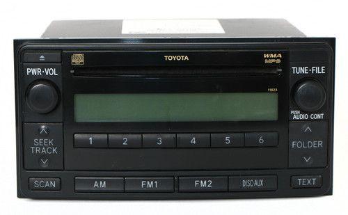 2008-2009 Toyota 4 Runner AM FM mp3 CD Face Code 11823 Part Number 86120-35410