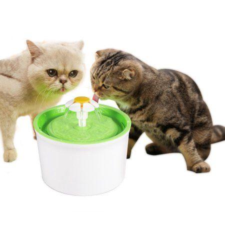 Cat Dog Automatic Drinking Fountain Pet Water Dispenser Flower Pet
