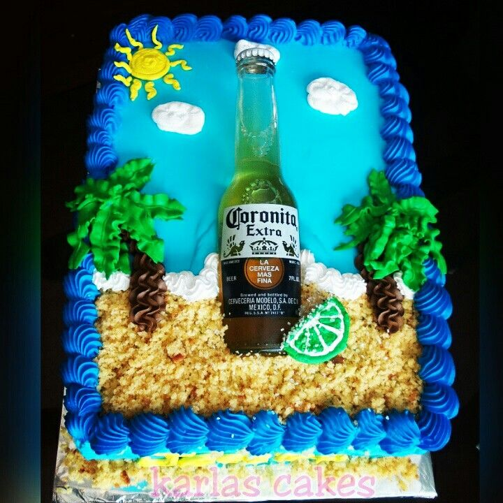 Beer Gifts, Corona Cake And Beer Birthday Party
