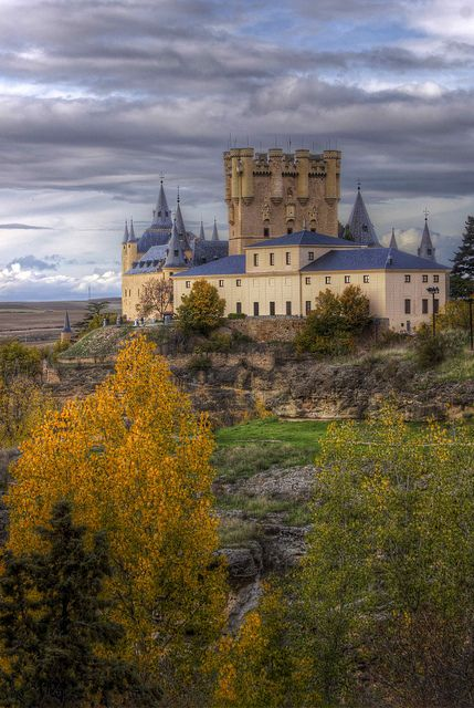 Segovia Castle in autumn, Spain