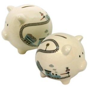 42 best piggy banks images on pinterest piggy banks ceramic painting and pigs - Train piggy banks ...