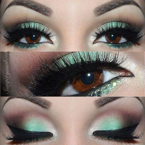 553 best images about maquillage des yeux noisette et vert on pinterest - Yeux vert noisette ...