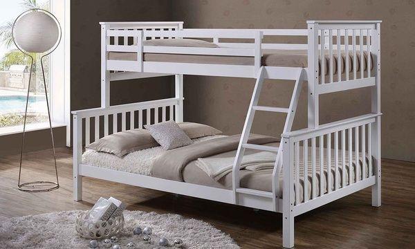 Oscar Triple Bunk Bed Bunk Bed Designs White Bunk Beds Bunk Beds