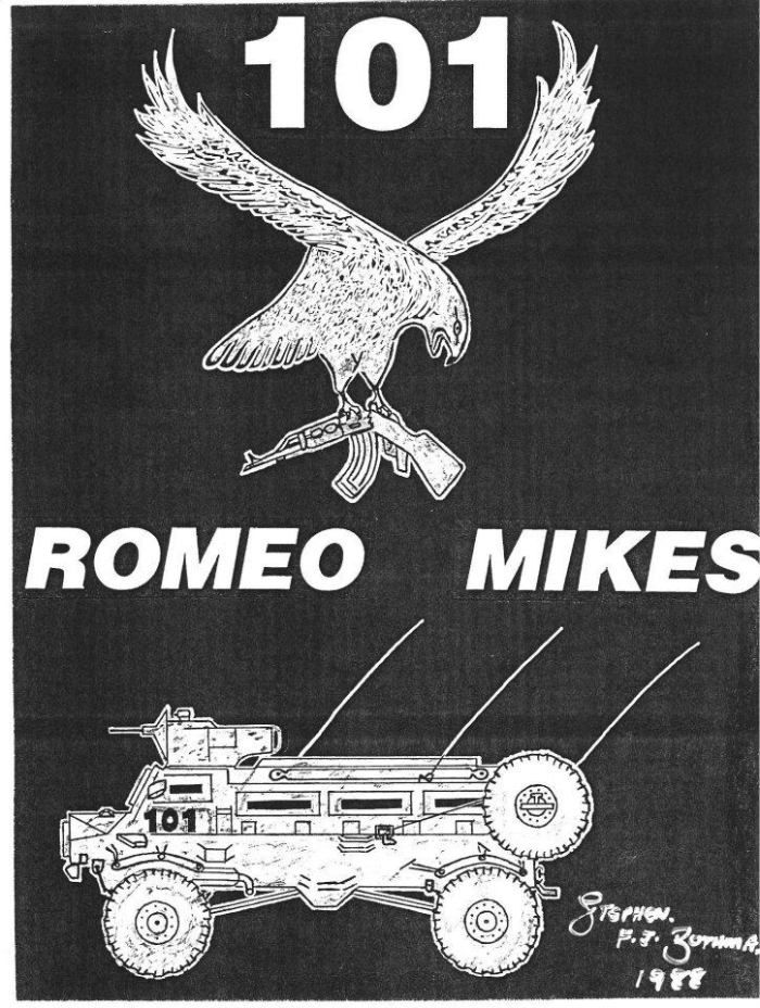 The Eagle with the broken AK and the Casspir have long been symbols of the Romeo Mike SSC's