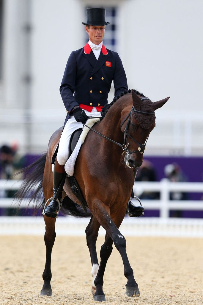William Fox-Pitt of Great Britain riding Lionheart competes in the Dressage Equestrian event on Day 2 of the London 2012 Olympic Games at Greenwich Park