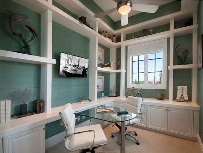 Turquoise Home Office