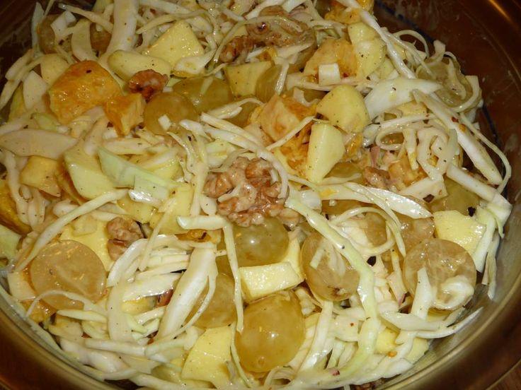 Frisse Fruitige Witte Kool Salade recept | Smulweb.nl