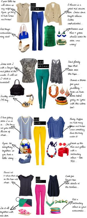 """""""How to wear coloured jeans"""" by bbeingcool-1 on Polyvore"""