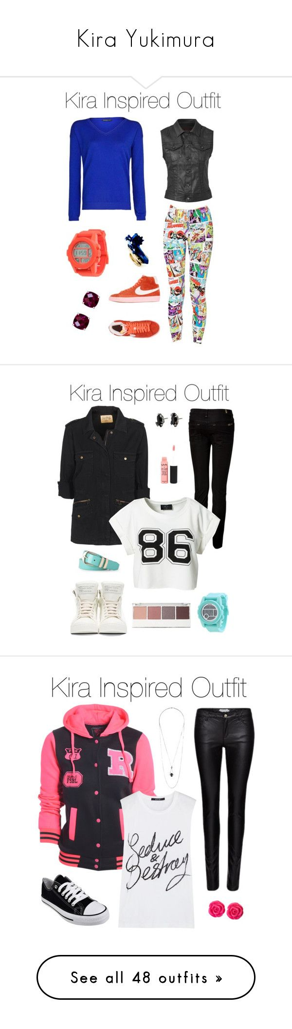 """Kira Yukimura"" by samtiritilli666lol ❤ liked on Polyvore featuring MANGO, Forever 21, AG Adriano Goldschmied, Nixon, NIKE, Reeds Jewelers, NYX, 7 For All Mankind, Marc by Marc Jacobs and Velvet by Graham & Spencer"