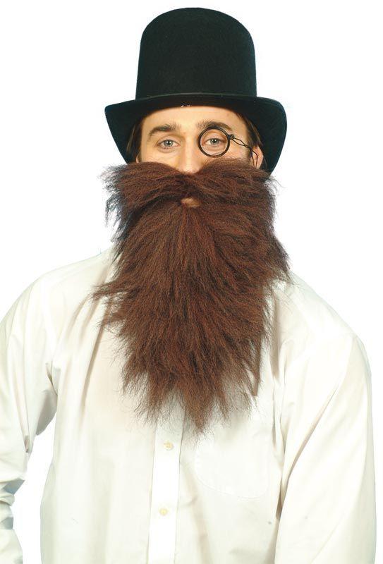 Mr Stink Long Brown Beard. World Book Day kids fancy dress costume www.partypacks.co.uk