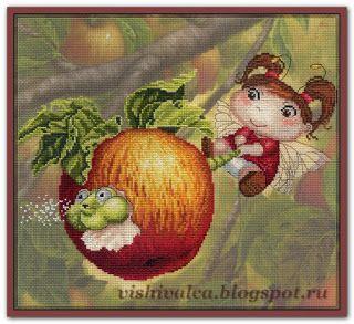 "Вышивалка 刺繍: Схема вышивки МП Студия РК-482 ""Яблочная фея"""