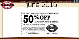 Free Printable Coupons: Boston Market Coupons